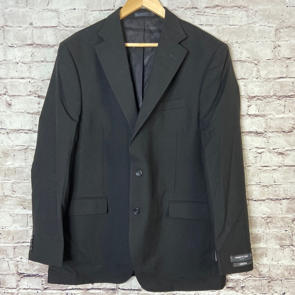 Kenneth Cole Other - Kenneth Cole Mens Suit Jacket Coat Black Wool